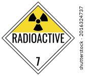 Radioactive Class 7 Placard...
