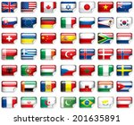 set of world flags.  | Shutterstock . vector #201635891