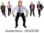 mature businessman in different ... | Shutterstock . vector #20163700