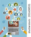 social network vector concept.... | Shutterstock .eps vector #201638531