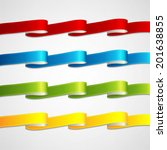 colorful ribbons set | Shutterstock .eps vector #201638855