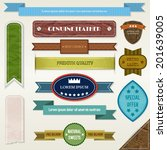 vintage elements set | Shutterstock .eps vector #201639005