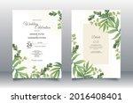 beautiful maidenhair fern... | Shutterstock .eps vector #2016408401