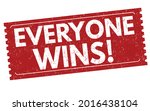 everyone wins grunge rubber... | Shutterstock .eps vector #2016438104