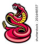 rattle snake mascot | Shutterstock .eps vector #201648557
