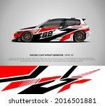 racing car wrap design vector... | Shutterstock .eps vector #2016501881