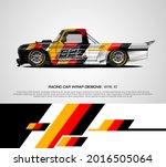 racing pickup truck wrap german ... | Shutterstock .eps vector #2016505064