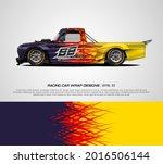 racing pickup truck wrap... | Shutterstock .eps vector #2016506144