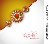 beautiful rakhi on grey and... | Shutterstock .eps vector #201651947