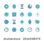 clock and time icons. watch ...