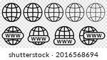 website icon set. www search...