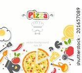 pizza background | Shutterstock .eps vector #201657089