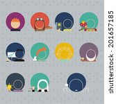 set of characters. avatars and... | Shutterstock .eps vector #201657185