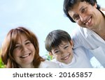 portrait of young happy family...   Shutterstock . vector #20165857