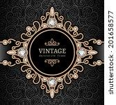 vintage gold background ...   Shutterstock .eps vector #201658577