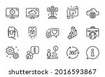 technology icons set. included... | Shutterstock .eps vector #2016593867