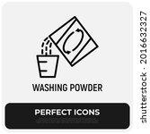washing powder thin line icon ... | Shutterstock .eps vector #2016632327
