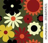 vector 70's inspired pattern.... | Shutterstock .eps vector #2016654521