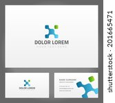 business card design and...   Shutterstock .eps vector #201665471