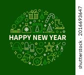 happy new year poster with... | Shutterstock .eps vector #2016693647
