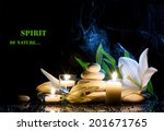 spa still life with white lily  ... | Shutterstock . vector #201671765