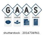 gaas   generally accepted audit ... | Shutterstock .eps vector #2016736961