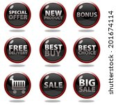shop button set on white... | Shutterstock . vector #201674114