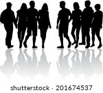 group of people | Shutterstock .eps vector #201674537