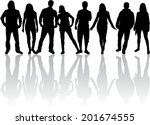 group of people | Shutterstock .eps vector #201674555