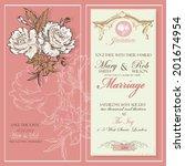 wedding refined invitation card ... | Shutterstock .eps vector #201674954