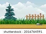 seamless countryside cartoon...