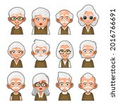 old man and woman cartoon icon. ...   Shutterstock .eps vector #2016766691