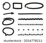 hand drawn black doodles on...   Shutterstock .eps vector #2016778211