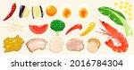 food illustrations  vegetables  ...   Shutterstock .eps vector #2016784304