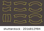 set of ribbons and labels vector   Shutterstock .eps vector #2016812984
