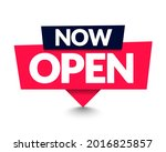 vector illustration now open pin   Shutterstock .eps vector #2016825857