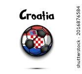 soccer ball with croatian...   Shutterstock .eps vector #2016876584