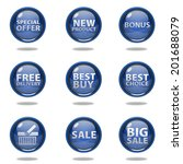 shop button set on white... | Shutterstock . vector #201688079