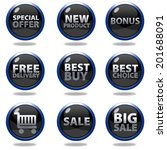 shop button set on white... | Shutterstock . vector #201688091