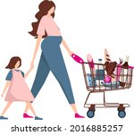 mom is expecting a baby.... | Shutterstock .eps vector #2016885257