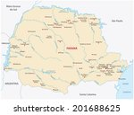 parana state map | Shutterstock .eps vector #201688625
