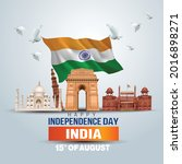 happy independence day india.... | Shutterstock .eps vector #2016898271