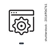 web_settings icon. search...   Shutterstock .eps vector #2016906761