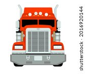 red semi truck  front view ...   Shutterstock .eps vector #2016920144