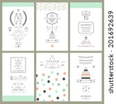 retro collection of wedding... | Shutterstock .eps vector #201692639