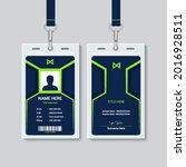 modern corporate id card design    Shutterstock .eps vector #2016928511