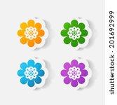 realistic paper sticker ... | Shutterstock .eps vector #201692999