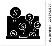 money glyph icon. investment in ...   Shutterstock .eps vector #2016933824