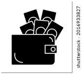 money glyph icon. full of cash. ...   Shutterstock .eps vector #2016933827