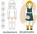 proportions of a little girl | Shutterstock .eps vector #2016941894